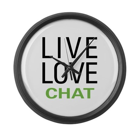 Live Love Chat Large Wall Clock