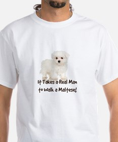 Real Men Walk Maltese Shirt