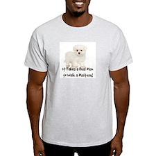 Real Men Walk Maltese T-Shirt