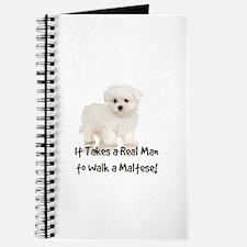 Real Men Walk Maltese Journal