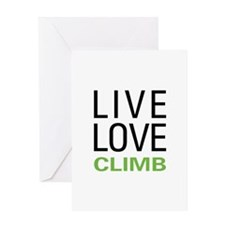 Live Love Climb Greeting Card