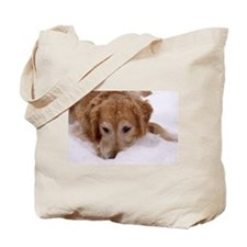 Winter Golden Retriever Tote Bag