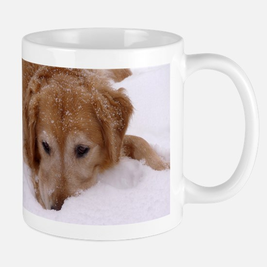 Winter Golden Retriever Mug