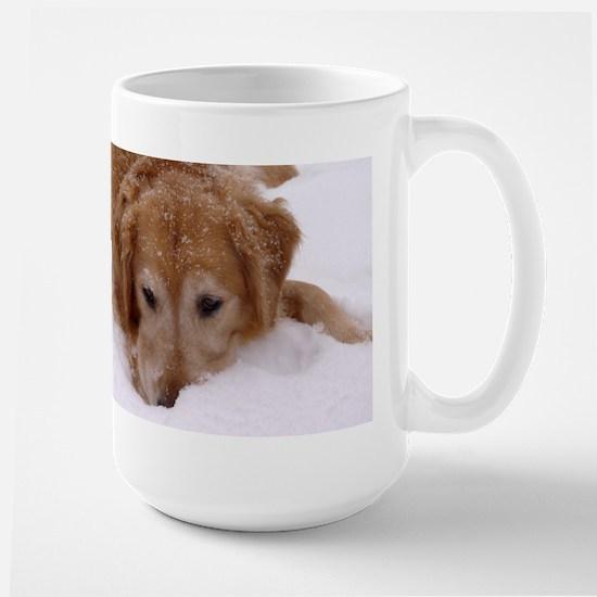 Winter Golden Retriever Large Mug
