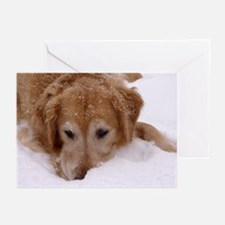 Winter Golden Retriever Greeting Cards (Pk of 20)