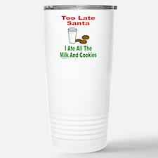 SANTA/MILK AND COOKIES Stainless Steel Travel Mug