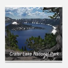 Cute Crater lake national park Tile Coaster