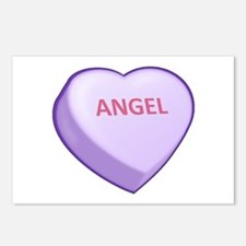 Angel Candy Heart Postcards (Package of 8)