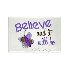 Believe Butterfly 2 EC Rectangle Magnet