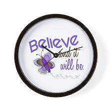 Believe Butterfly 2 EC Wall Clock