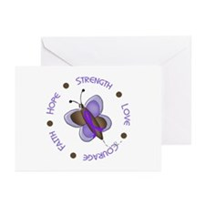 Hope Courage Butterfly 2 EC Greeting Cards (Pk of