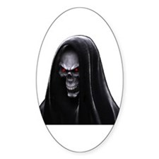 Grim Reaper Oval Decal