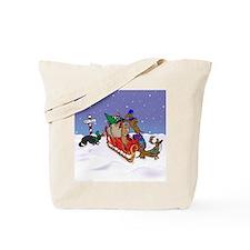 North Pole Dachshunds Tote Bag