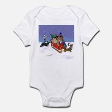 North Pole Dachshunds Infant Bodysuit
