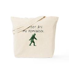 Bigfoot Ate My Homework. Tote Bag