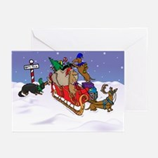 North Pole Dachshunds Christmas Cards (Pk of 20)