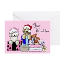 TBG Pink Christmas Greeting Cards (Pk of 20)