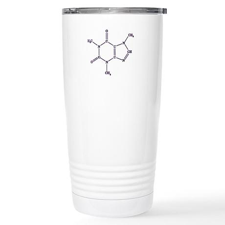 Purple Caffeine Molecule Stainless Steel Travel Mu