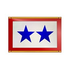 TWO BLUE STAR Rectangle Magnet (10 pack)