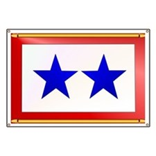 TWO BLUE STAR Banner