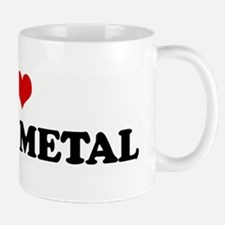 I Love DEATH METAL Small Small Mug