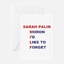 Sarah Palin is a MILF Greeting Card