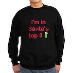 Santa's Top 8 Sweatshirt (dark)