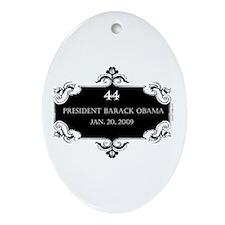 oddFrogg Obama 44 Commemorative Oval Ornament