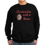 Bartender With Brain Sweatshirt (dark)