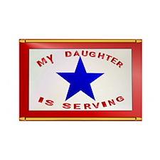 BLUE STAR_Daughter Serving Rectangle Magnet