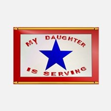 BLUE STAR_Daughter Serving Rectangle Magnet