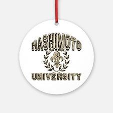 Hashimoto Last Name University Ornament (Round)