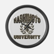 Hashimoto Last Name University Large Wall Clock