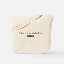 Barcode Name Tote Bag