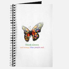 Think Green blue purple Journal