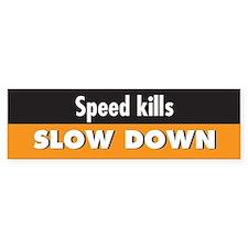 Speed kills Bumper Bumper Sticker