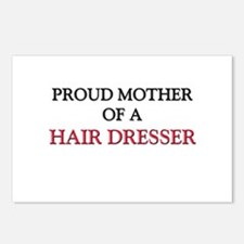 Proud Mother Of A HAIR DRESSER Postcards (Package