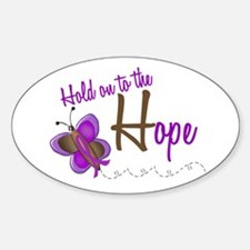 Hold On To Hope 1 Butterfly 2 PURPLE Decal