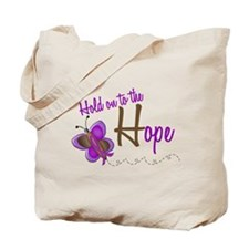 Hold On To Hope 1 Butterfly 2 PURPLE Tote Bag