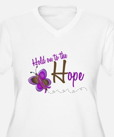 Hold On To Hope 1 Butterfly 2 PURPLE T-Shirt