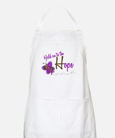 Hold On To Hope 1 Butterfly 2 PURPLE BBQ Apron