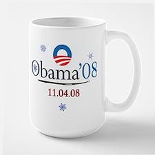 oddFrogg Obama 08 Large Christmas Mug