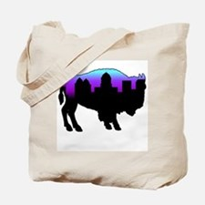 Purple Skyline Tote Bag