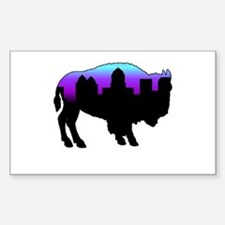 Purple Skyline Rectangle Decal