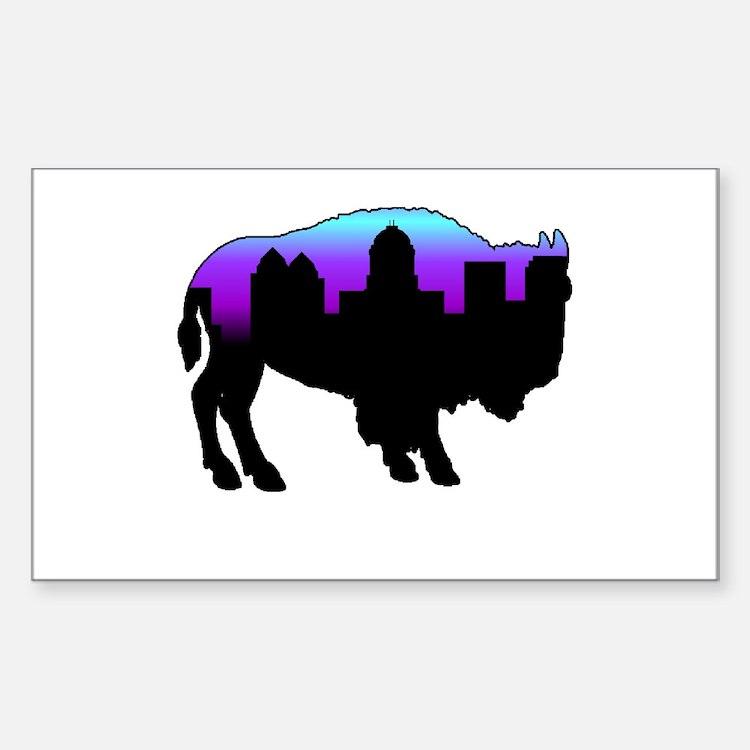 Purple Skyline Rectangle Decal