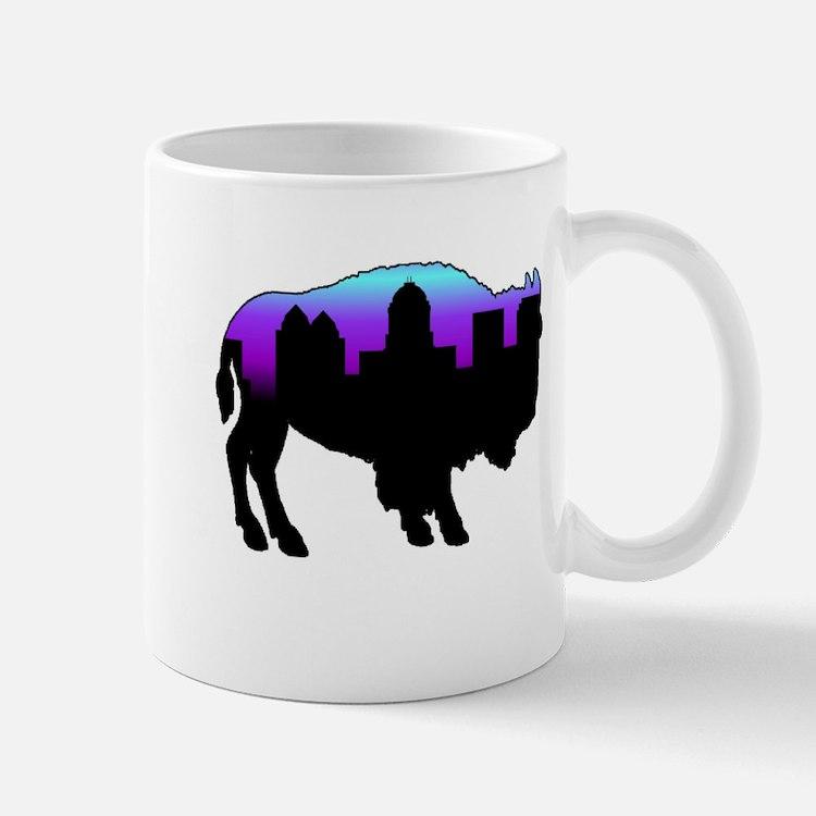 Purple Skyline Mug