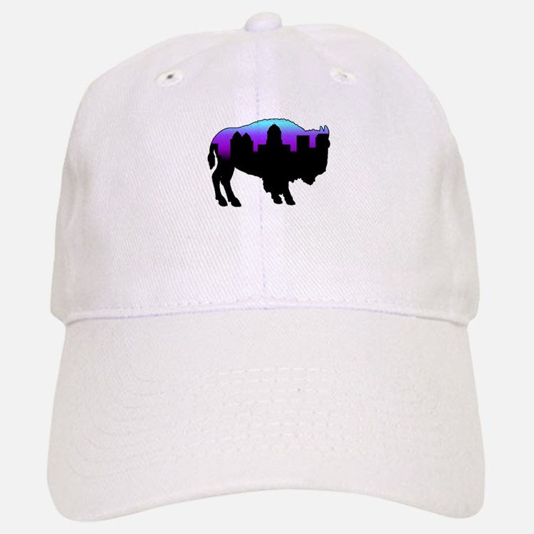 Purple Skyline Baseball Baseball Cap