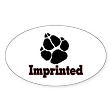IMPRINTED2 Oval Decal