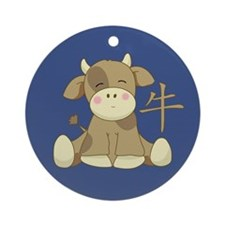 The Ox Ornament (Round)