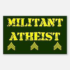 Militant Atheist Rectangle Decal